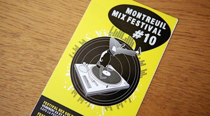créer dépliant festival Montreuil graphiste